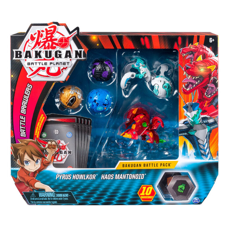 Bakugan Battle Pack - Pyrus Howlkor & Haos Mantonoid