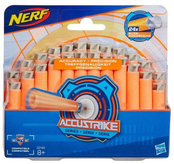 NERF N Strike Elite Accustrike darts 7 cm oranje 24 stuks