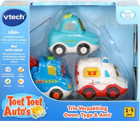 VTech Toet Toet Auto's - Trio Verpakking - Owen, Tygo en Amir