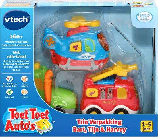 VTech Toet Toet Auto's - Trio Verpakking - Bart, Tijn en Harvey