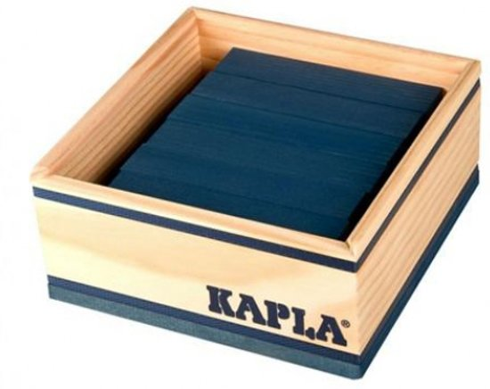 KAPLA Kleur - 40 Plankjes - Donkerblauw