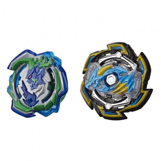 Beyblade dubbelpakket Hypersphere Burst junior groen/blauw 2 delig