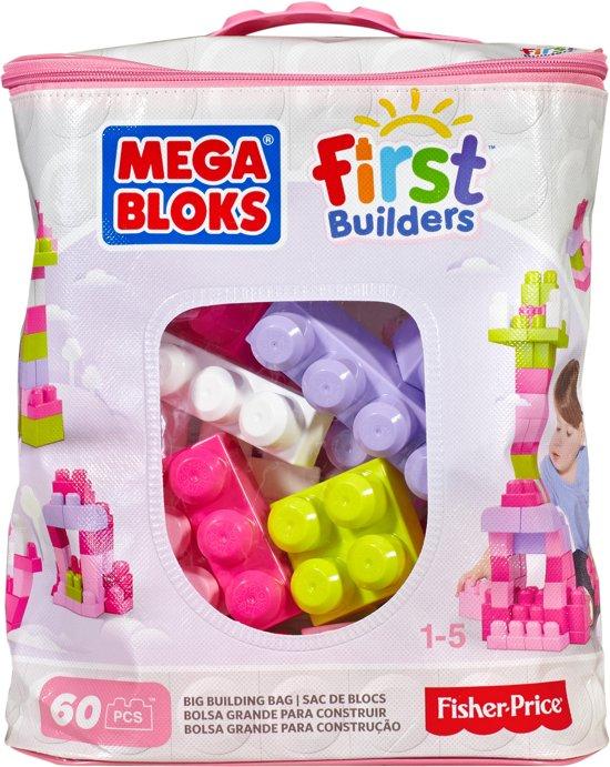Mega Bloks  First Builders 60 Maxi Blokken Roze